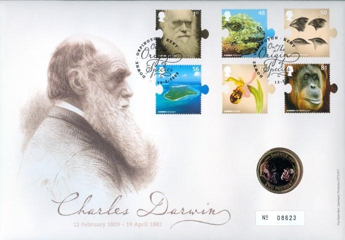 2009 Charles Darwin £2 Coin