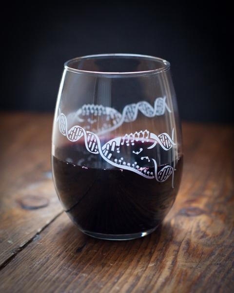 DNA Replicating Wine Glass