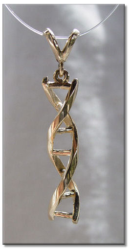 biology molecule dna item pendant science jewelry charm necklace