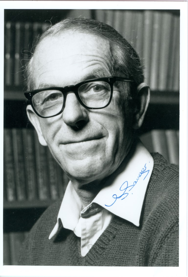 Frederick Sanger Signed Photo